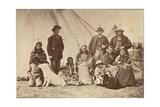 Group About Fort Laramie, Dakota, 1868 Giclée-tryk af Alexander Gardner