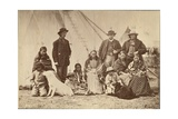 Group About Fort Laramie, Dakota, 1868 Giclee Print by Alexander Gardner