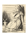 The White Rabbit Is Late, from 'Alice's Adventures in Wonderland' by Lewis Carroll, Published 1891 Giclee Print by John Tenniel