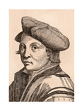 Andrea Del Sarto, Illustration from '75 Portraits of Celebrated Painters from Authentic… Giclee Print by James Girtin