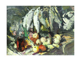 Fish, Wine and Fruit Giclee Print by Konstantin A. Korovin