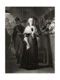 Marie Antoinette before the Revolutionary Tribunal Court, October 14 1793, Engraved by William… Giclee Print by Hippolyte Delaroche