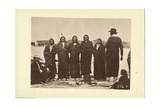 Tashunkakokip (Old Man Afraid of His Horses) and His Chiefs, Oglala, 1868 Giclee Print by Alexander Gardner