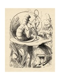 Advice from a Caterpillar, from 'Alice's Adventures in Wonderland' by Lewis Carroll, Published 1891 Lámina giclée por Tenniel, John