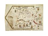 Portolan Chart of Gabriel De Vallseca, 1439 Giclee Print