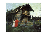 'The Shed' Giclee Print by Konstantin Alekseevich Korovin