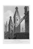 Roslyn Chapel, View of Buttresses and Pinnacles at the North East Corner, Engraved by William… Giclee Print by Joseph Michael Gandy