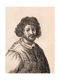 Claude Lorrain, Illustration from '75 Portraits of Celebrated Painters from Authentic Originals',… Giclee Print by James Girtin