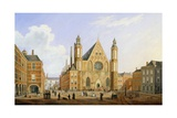 The Binnenhof in the Hague with a View of the Ridderzaal with Soldiers and Other Figures in the… Giclee Print by Augustus Wynantz