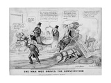 The Man Wot Drives the Constitution, Published by J Childs, New York, 1844 Giclee Print by Edward Williams Clay