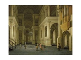 The Interior of a Renaissance Cathedral by Candlelight Giclee Print by Anthonie de Lorme