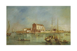 The Island of San Cristoforo Della Pace, Murano Giclee Print by Francesco Guardi