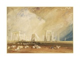 Stonehenge During a Storm Giclee Print by J. M. W. Turner