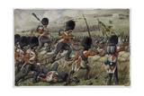Detail of the Scots Fusilier Guards (Now Scots Guards) at the Battle of the Alma, Crimean War, 20… Giclee Print by Richard Simkin