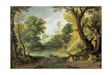 Landscape with Nymphs and Satyrs, 1623 Giclee Print by Paul Brill Or Bril