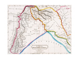 Map of Syria, Mesopotamia, Assyria &C., from 'The Atlas of Ancient Geography', by Butler… Giclee Print