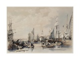 The Port of London, 1834 Giclee Print by James Duffield Harding