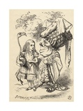 Alice with Flamingo Chats with the Duchess, from 'Alice's Adventures in Wonderland' by Lewis… Giclee Print by John Tenniel