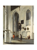 Interior of the Old Church at Delft, 1653/55 Giclee Print by Emanuel de Witte
