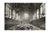 The Great Hall of the Middle Temple, from 'London Pictures: Drawn with Pen and Pencil', by Rev.… Giclee Print