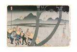 Number 2: Hodogaya, Totsuka, Fujisawa and Hiratsuka Stations, from 'Famous Views of the… Giclee Print by Utagawa Kuniyoshi