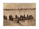 Ferry Near Fort Laramie, Dakota, 1868 Giclée-tryk af Alexander Gardner