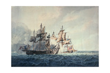 The Action Between His Majesty's Sloop, Bonne Citoyenne, and the French Frigate, La Furieuse, on… Giclee Print by George Webster