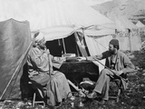 Yakub Es Shellaby, Presenting Captain C. Warren with a Book of Samaritan Prayers for the… Photographic Print by Corporal Henry Phillips