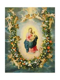 The Madonna and Child in a Floral Garland Giclee Print by  Jan Brueghel and Hendrik van Balen