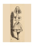 Alice Grows Taller, from 'Alice's Adventures in Wonderland' by Lewis Carroll, Published 1891 Giclee Print by John Tenniel