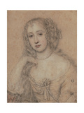 Portrait Drawing of a Lady Giclee Print by John Greenhill