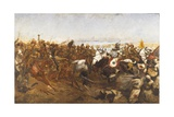 The Charge of the 21st Lancers at the Battle of Omdurman, 1898 Giclee Print by Richard Caton Woodville