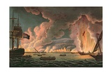 Destruction of the French Fleet at Toulon, 18th December 1793, Engraved by Thomas Sutherland… Giclee Print by Thomas Whitcombe