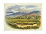 View Near Damieh, Jordan Valley, 1874 Giclee Print by Claude Conder