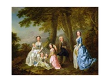 Samuel Richardson Seated with His Second Family Giclee Print by Francis Hayman