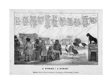 A Strike! a Strike!, C.1836 Giclee Print by Edward Williams Clay