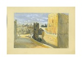 View of a Town Giclee Print by Claude Conder