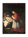 St. Charles Borromeo before the Dead Christ, 1610 Giclee Print by Giovanni Battista Crespi