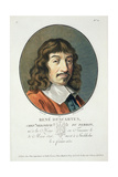 Rene Descartes, from 'Portraits Des Grands Hommes, Femmes Illustres, Et Sujets Memorables De… Giclee Print by Antoine Louis Francois Sergent-marceau