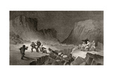 Crossing the Ice Belt at Coffee Gorge, Engraved by R. Hinshlewood, from 'Arctic Explorations in… Giclee Print by James Hamilton