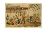 [Barrack] Hospital Scutari, Scene with Nurses and Soldiers of the Highland Regiment, 1854-56 Giclee Print by Orlando Norie