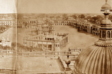 Panoramic View of the Courtyards of the Residency, Lucknow Photographic Print by Felice Beato