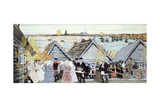 Village Festival Giclee Print by Boris Mikhailovich Kustodiev