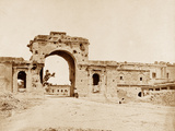 Gateway Leading into the Residency, Held by Captain Atkinson of the 13th Native Infantry Photographic Print by Felice Beato