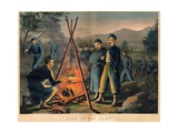 Life in the Camp, Published by Currier and Ives, 1863 Giclee Print by Thomas Nast