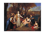 The Finding of Moses, before 1699 Giclee Print by Antoine Coypel