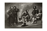 Life in the Brig, Engraved by J. Mcgoffin, from 'Arctic Explorations in the Years 1853, 54, 55',… Giclee Print by Christian Schussele
