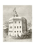 The Globe Theatre, Southwark, from 'The National and Domestic History of England' by William… Giclee Print