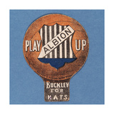 Play Up Albion', Baines' Card in the Shape of a Football, 1888-89 Giclee Print