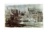 A Street in Madrid Giclee Print by Francisco de Goya